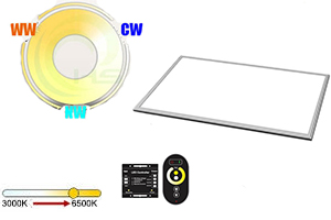 24W 600x300mm Dual White LED Panel Light