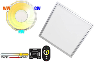 48w 600x600mm Dual White LED Panel Light