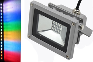 IR/RF 10W SMD RGB LED Floodlight