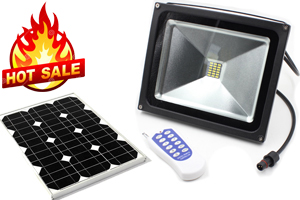 10W RF remote solar LED flood lights