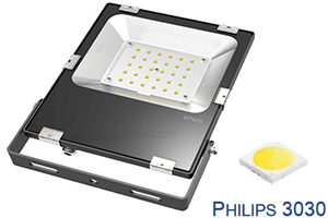 30W CE RoHs Philips chip Ultra Slim LED Flood Lights